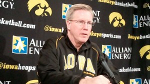 Iowa head coach Fran McCaffery discusses the Hawkeyes' upcoming game against No. 22 Michigan State during a press conference held Tuesday, Jan. 8, 2013, at Carver-Hawkeye Arena in Iowa City.